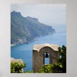 Costa de Italia, Amalfi, Ravello, campanario con Póster