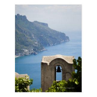 Costa de Italia Amalfi Ravello campanario con Tarjetas Postales