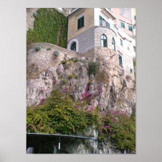 Costa de Italia - de Amalfi Póster