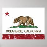Costa de la bandera del estado de California Impresiones