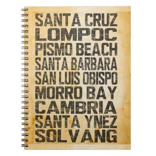 Costa de la central de California Libros De Apuntes