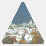 Costa de la ciudad de Quebec Canadá Pegatinas De Triangulo Personalizadas