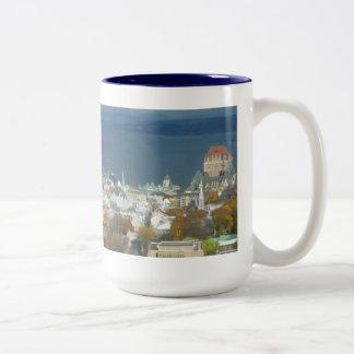 Costa de la ciudad de Quebec Canadá Taza De Dos Tonos