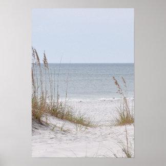 Costa de la Costa del Golfo de Alabama Póster
