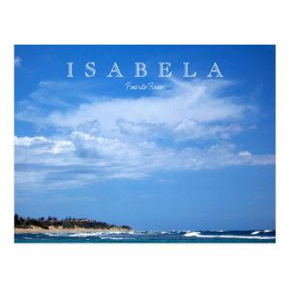 Costa de la playa de Puerto Rico Isabela Postales