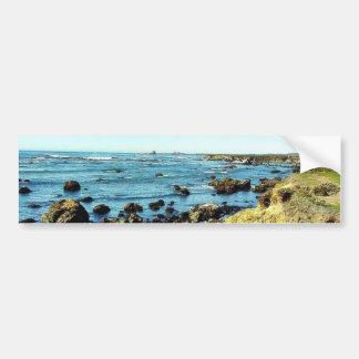 Costa de la playa en el mar del agua del océano de pegatina para auto