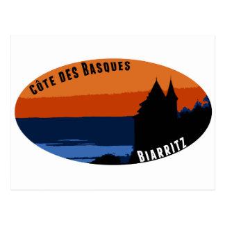 Costa de los Vascos Biarritz Tarjeta Postal