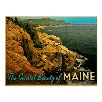 Costa de Maine del vintage Postales