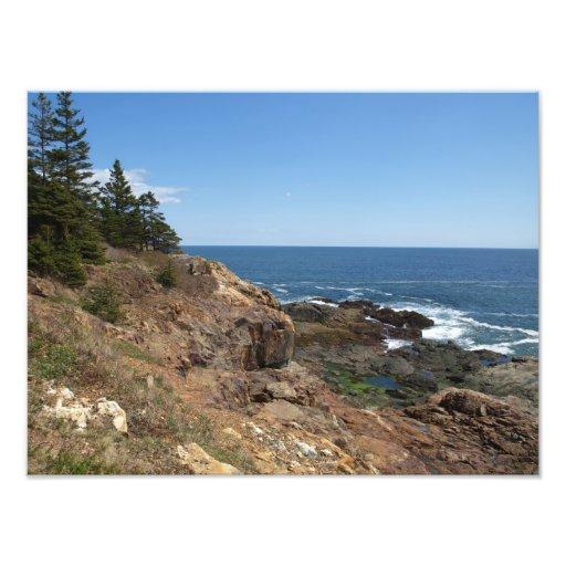 Costa de Maine, impresión de la foto