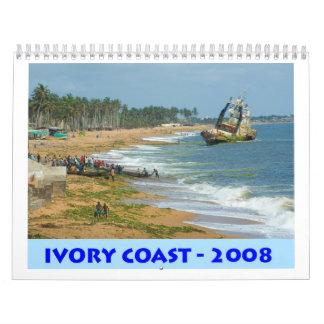 Costa de Marfil, África occidental, calendario