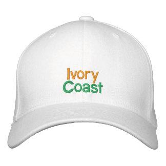 Costa de Marfil - gorra bordado d Ivoire de Côte Gorros Bordados