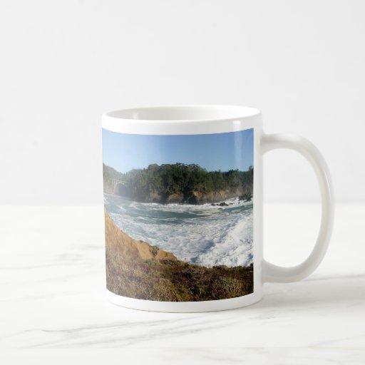 Costa de Mendocino, California Taza