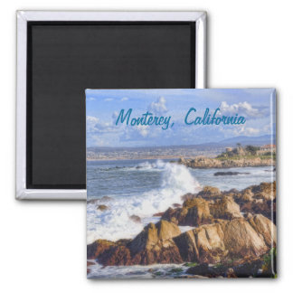 Costa de Monterey California Imán Cuadrado