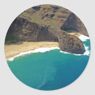 Costa de Napali de la cueva del mar principal de l Pegatinas