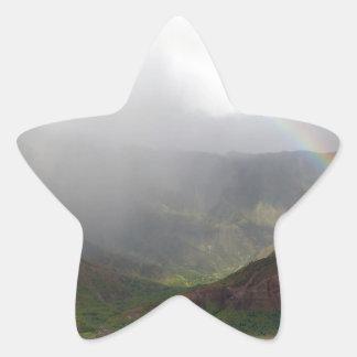 Costa de Napali de la montaña del arco iris Colcomanias Forma De Estrellas