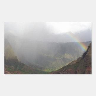 Costa de Napali de la montaña del arco iris Pegatinas