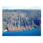 Costa de Napali, Kauai, Hawaii Tarjeta Postal