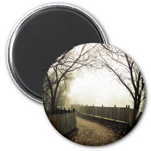 Costa de niebla 01 imán redondo 5 cm