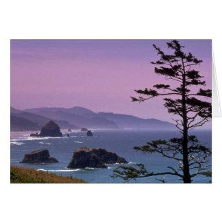 Costa de Oregon, parque de estado de Ecola, Oregon Tarjeton