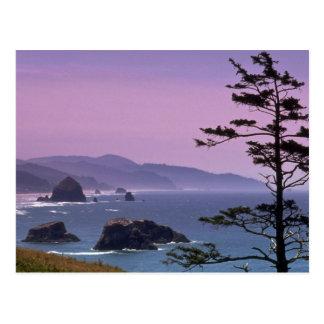 Costa de Oregon, parque de estado de Ecola, Oregon Postal