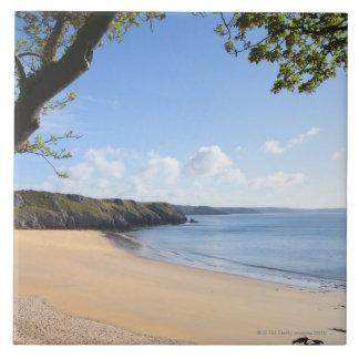 Costa de Pembrokeshire del Pembroke de la bahía de Azulejo Cuadrado Grande