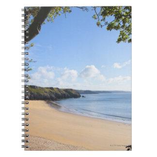 Costa de Pembrokeshire del Pembroke de la bahía de Libreta Espiral