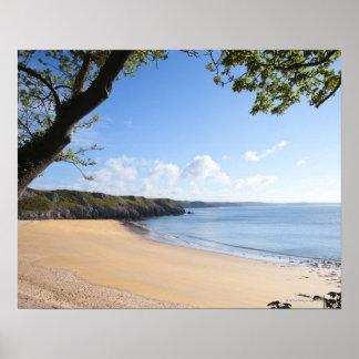 Costa de Pembrokeshire del Pembroke de la bahía de Póster