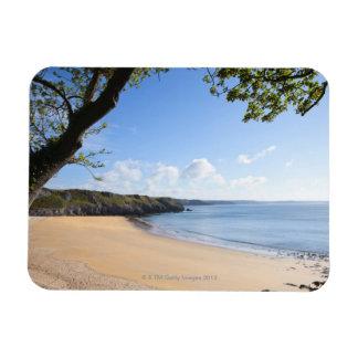 Costa de Pembrokeshire del Pembroke de la bahía de Rectangle Magnet