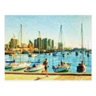 Costa de San Diego por el mac de Shawna Tarjeta Postal