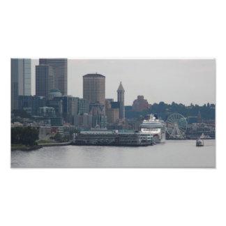 Costa de Seattle Impresión Fotográfica