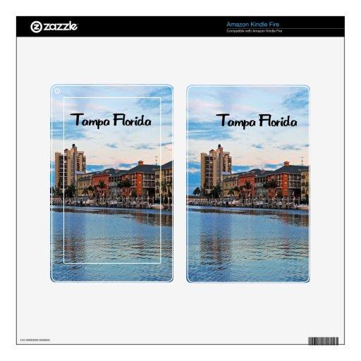 Costa de Tampa la Florida Skins Para Kindle Fire