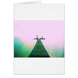 Costa de Tejas de la calma del océano de la bahía  Felicitacion