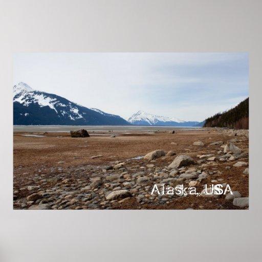 Costa del Alaskan de la CA Posters