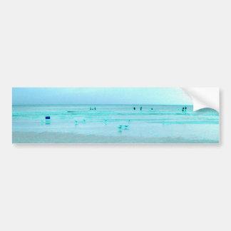 Costa del Golfo con los bordes coloreados Pegatina De Parachoque