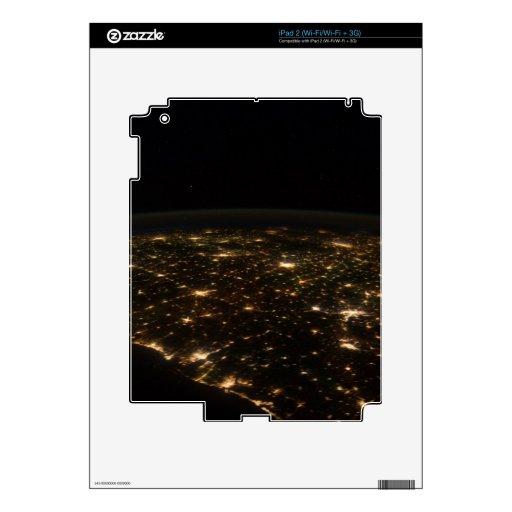 Costa del Golfo de América en la noche Calcomanía Para iPad 2