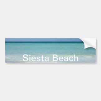 Costa del Golfo de la playa de la siesta Pegatina Para Auto