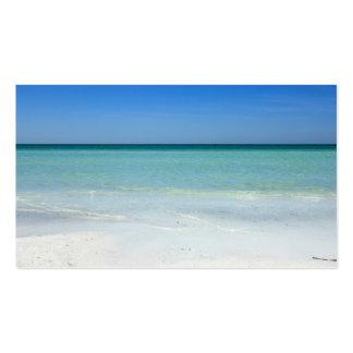 Costa del Golfo de la playa de la siesta Plantillas De Tarjetas Personales