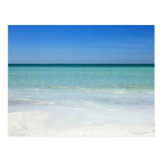 Costa del Golfo de la playa de la siesta Tarjetas Postales