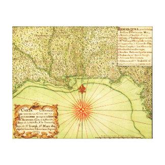 Costa del Golfo del mapa unido de StatesPanoramic Lona Estirada Galerías