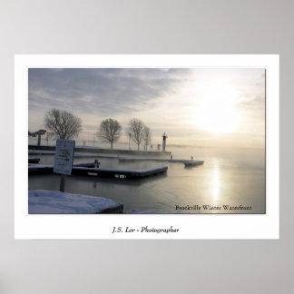 Costa del invierno de Brockville Poster