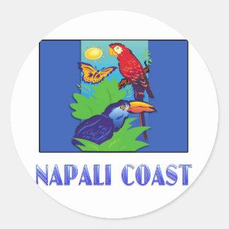 COSTA del Macaw, del loro, de la mariposa y de la  Pegatinas