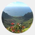 Costa del Na Pali de Kauai Pegatina Redonda