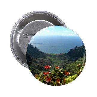 Costa del Na Pali de Kauai Pin Redondo 5 Cm