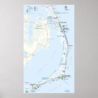 Costa del nacional de Hatteras del cabo Póster