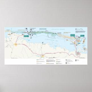 Costa del nacional de la isla de Assateague Póster