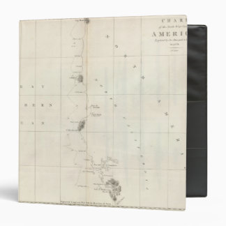 """Costa del noroeste de la carta de América Carpeta 1 1/2"""""""