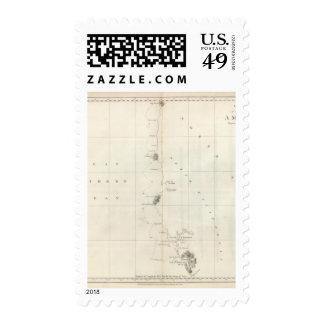 Costa del noroeste de la carta de América Envio