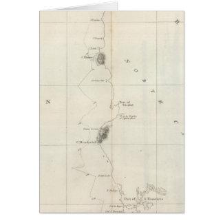Costa del noroeste de la carta de América Tarjeta De Felicitación