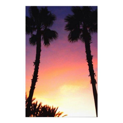Costa del Pacífico CA de la puesta del sol de las  Papeleria