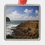 Costa del Pacífico rocosa de Oregon en ciudad pací Ornato